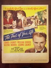 TIME OF YOUR LIFE Original 1947 Movie Poster JAMES CAGNEY WILLIAM BENDIX JEANNE