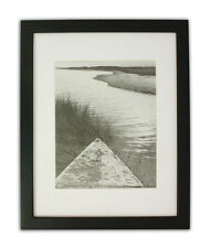 11x14 Black Photo Wood Frame with REAL GLASS and White Mat for 8x10 Picture