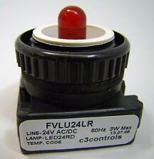 1 each C3Controls FVLU24LG-PLLRD Red LED Pilot Light Unused Without Lens