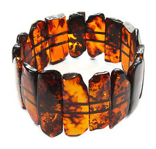 Baltic amber stretch bracelet for adult. 29.8 g