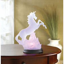 New Frosted Unicorn Light Statue Color Changing Battery Operated Lamp 34059
