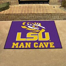"LSU Tigers Man Cave All Star Area Rug Floor Mat 34"" X 43"""