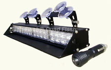 DASH FLASH® 4- HEAD DASH DECK LED STROBE LIGHT FIREFIGHTER  POLICE SNOW PLOW TOW
