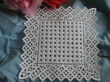 "6"" INCH SQUARE WHITE PAPER LACE DOILY ❤ GERMANY❤  20 PCS SCRAPBOOKS CRAFTS"