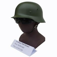 WW2 WWII M40 GERMAN ARMY HEER TROPICAL CAMO HELMET GREEN COLOR