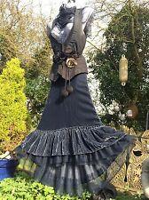 QUIRKY Gothic Steampunk Ruffle Skirt Prairie Mori Victorian LAGENLOOK Gypsy Larp