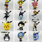 SAO One Piece Death Note Fairy Tail Pikachu Keychains Pendant PVC 5CM 30 Choices