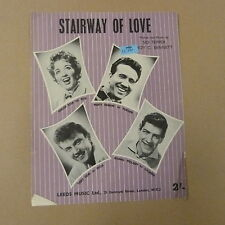 song sheet STAIRWAY OF LOVE Marion Ryan Marty robbins 1958