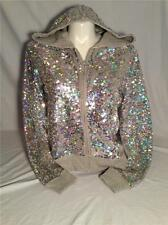 VICTORIAS SECRET SEQUIN HOODIE BLING JACKET LOVE PINK FASHION SHOW 2013 MEDIUM