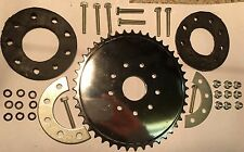 80cc Motor bicycle GAS ENGINE parts - 44 Teeth sprocket with mount and Hardware