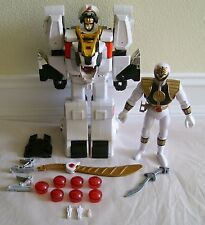 VINTAGE 1994 MIGHTY MORPHIN POWER RANGERS WHITE TIGERZORD  w/RANGER WORKS