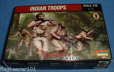 STRELETS SET M 119. INDIAN TROOPS. WW2. 1/72 SCALE.