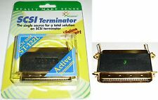Gold Centronic 50pin/wire,Male~Female Active LED Terminator SCSI Scanner PC/MAC
