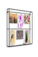 Umbra Trax Photo Display With Shelf Black With Picture Hanging Clips