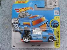 Hot Wheels 2016 #173/250 CRATE RACER blue truck HW City works Case Q New Model