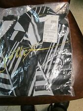 Gottex Coverup New Black & White Strip Blouse Swimsuit Sarong Cover-Up Size S