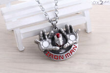 Marvel The Avengers 3D Iron Man Metal Chain Pendant Necklace Collectible Gift