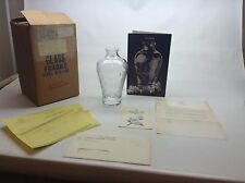 Lenox Crystal Plum Blossom Vase Original Box And Paperwork 1984