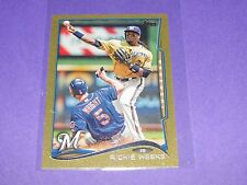 2014 Topps RICKIE WEEKS #172 Gold Mini SP/63 Milwaukee BREWERS Southern JAGUARS