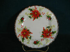 Royal Albert Yuletide / Poinsettia Christmas Pattern Bread and Butter Plate