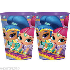 SHIMMER AND SHINE REUSABLE KEEPSAKE CUPS (2) ~ Birthday Party Supplies Nick JR