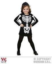 Childrens Skeleton Girl Fancy Dress Costume Halloween Ghost Outfit 3-4 Yrs