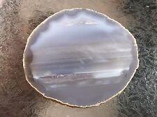 """Brazilian Agate Geode Slab/Slice- Large Natural/Grey Color - 5 3/4 """" x  5 1/4 """""""