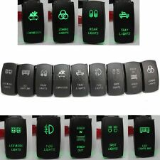 CAR BOAT LASER ETCHED LED LIGHT BAR FOG WORK SPOT ROCKER SWITCH DUAL LED BACKLIT