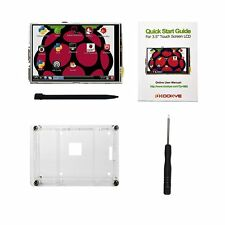 """3.5"""" Raspberry Pi 2/3 LCD Touch Screen Display Clear Case"""