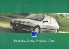 PEUGEOT DIESEL 1994-95 marché britannique la brochure commerciale 106 205 306 405 605