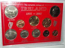 Repubblica di Irlanda il conio EIRE IRLANDA decimale pre euro con montante MEDAGLIA Set Regalo
