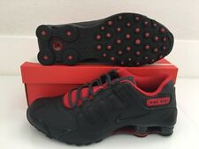 2016 Nike Shox NZ SE SZ 10.5 Black Gym Red Running Shoes 833579-003