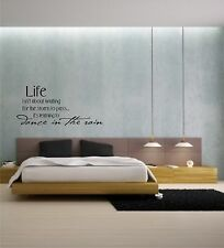 Life isn't about waiting for the storm to pass #2 vinyl wall decal