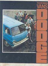 1970 Dodge A100 Tradesman Host Wagon Van Pickup Truck Brochure wv2654