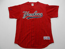 New York Yankees RARE RED VINTAGE MAJESTIC BASEBALL JERSEY ADULT XL