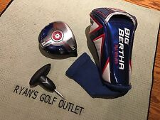 CALLAWAY BIG BERTHA ALPHA 9* DRIVER HEAD ONLY HEADCOVER & WRENCH INCL GREAT COND
