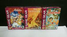 3 NEW Factory Sealed Sega Game Gear Games Disneys Lion King, Jungle Book,Aladdin