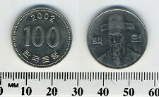 South Korea 2002 - 100 Won Copper-Nickel Coin - Bust with hat facing