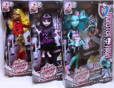 Monster High 2014 Fright Camera Action Clawdia Wolf Honey Swamp Elissabat lot