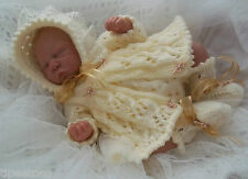 DK Knitting Pattern #42 TO KNIT Matinee Set Early Born Baby or 16in Reborn Dolls