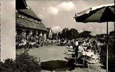 Gütersloh ~1950/60 Partie Autobahn-Rasthaus-Hotel Terrasse Gäste Menschen Möbel