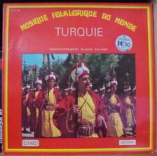 TURQUIE/BLAISE CALAME MUSIQUE FOLKLORIQUE DU MONDE FRENCH LP