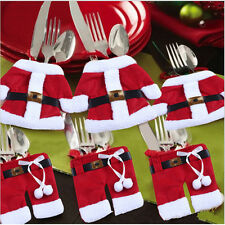Christmas Santa Silverware Tableware Holder Pocket Suit Table Home Decoration