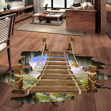 3D Bridge Floor/Wall Sticker Removable Mural Decals Vinyl Art Living Room Decors