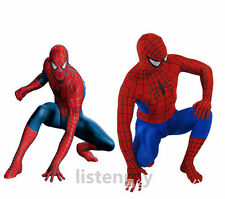 Adult Spider-man Leotard Cosplay Costume spandex Zentai Jumpsuit Onesie 2nd Skin