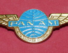 Vtg Pan Am Airlines Logo Fly Girls Stewardess Flight Attendant Jr. Wings Pin