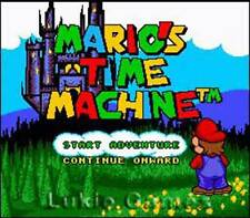 Mario's Time Machine - SNES Super Nintendo Game