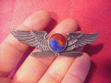 ORIGINAL RARE WWII ERA KOREA / KOREAN MILITARY / AIRLINES PILOT? WINGS BADGE PIN
