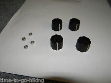 GENUINE JRC NRD-515 ROUND KNOBS WITH METAL INSERTS SET OF 4