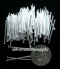 Silver plated jewelry head pins 100 3/4 in 20 ga fhs002